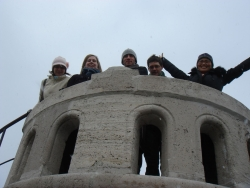 the crew conquers the lookout on Janos hill
