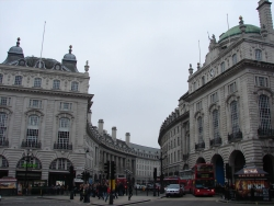 around Piccadilly circus... Juan was actually crushed to not see any acrobats or animals