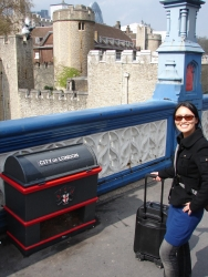 Juan's trusty li'l suitcase (now in its 10th year) makes it to yet another destination
