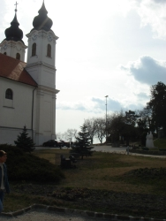 the nice church on the top of Tihany village