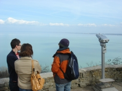 too busy gazing at the serene Balaton to notice the church
