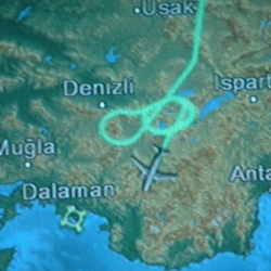 our 500km Istanbul-Dalaman flight became 1000 thanks to this fancy path taken by the pilot