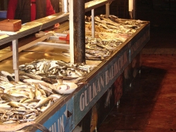 pick your fresh fish at the market and one of the surrounding restaurants will cook it
