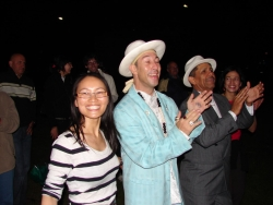 Juan with the Ska Cubano singers