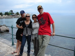 saying bye to Laci and Claudia in Opatija