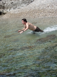 Chris takes the plunge
