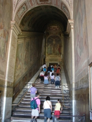 and the steps that Jesus walked on - apparently no longer walkable and just crawlable