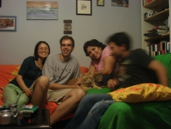 we spent the next 2 days with erica and diego (and their appropriately-named cats gato and gata)