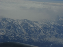 on our way at last - flying over the Andes