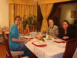 four hours later - already dining with friends