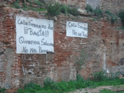 someone seems upset - what's wrong with Calle Serrano?