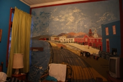 the beautiful mural inside our bedroom