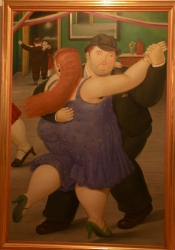 Botero exhibit 2 (chubby dancers... possibly having an affair hinted at by wondering eye)