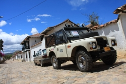 we have found that the Colombian villages are full of antique jeeps