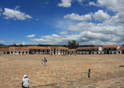 the grand plaza of the little village