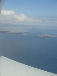 first glimpse of the islands