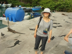 first glimpse at marine iguanas - so excited on day 1