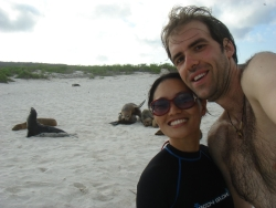 swim and snorkle time with the sea lions