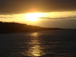 sunset as we sail on