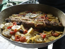 we arrive in Macedonia to - what else? - a big meal