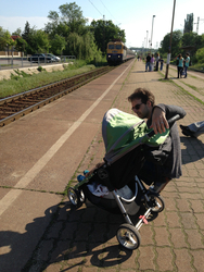 120 - European kids love public transport - here we are waiting for the commuter train to downtown.jpg
