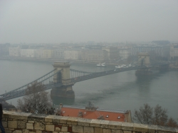 Chain Bridge in the fog