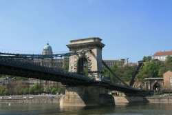 Castle and Chain Bridge from the boat