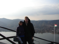at the top of windy windy Visegrad castle