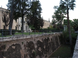 """so-called """"moat"""" in front of the former cigar factory (and current law school)"""
