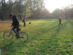 ... and the always popular international competition of trying to ride Ognen's tall bike