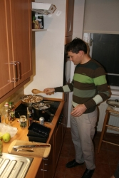 as usual, the men are the masters of the kitchen