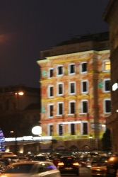 """actually this was supposed to be the """"after"""" pic but it turned out sadly blurry - very cool building lights though"""