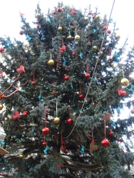 """and here we go with the awful trees - this is the """"grand"""" one in the middle of the main X-mas market"""