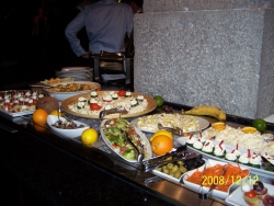 the restaurant of Ognen's company party served real food