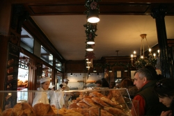 no visit to Paris is complete without the crowded, expensive bakery