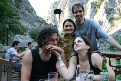 at the Marka gorge near Skopje with Ognen's cousin Danko