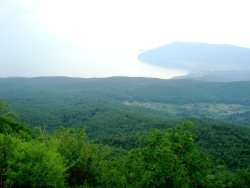 view of Lake Prespa from Galicica